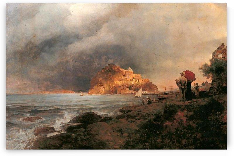 Blick auf Ischia by Oswald Achenbach