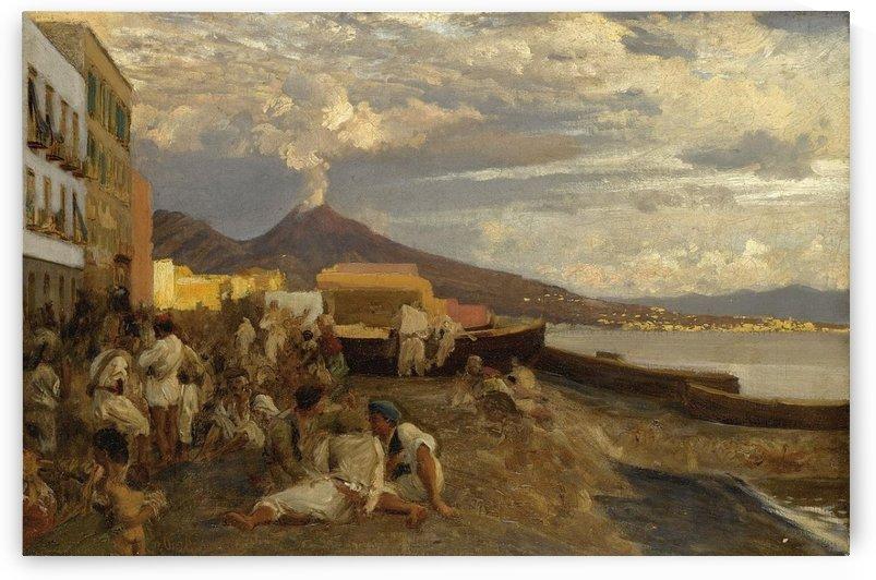 Die Bucht von Neapel by Oswald Achenbach