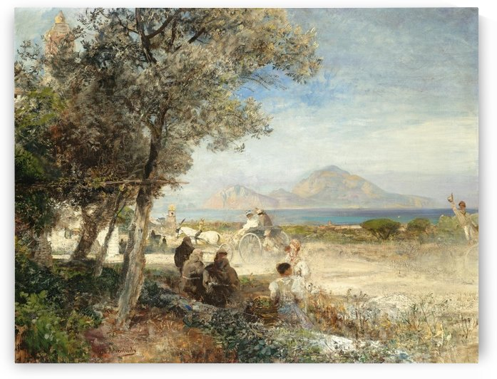 View of the Bay of Naples by Oswald Achenbach