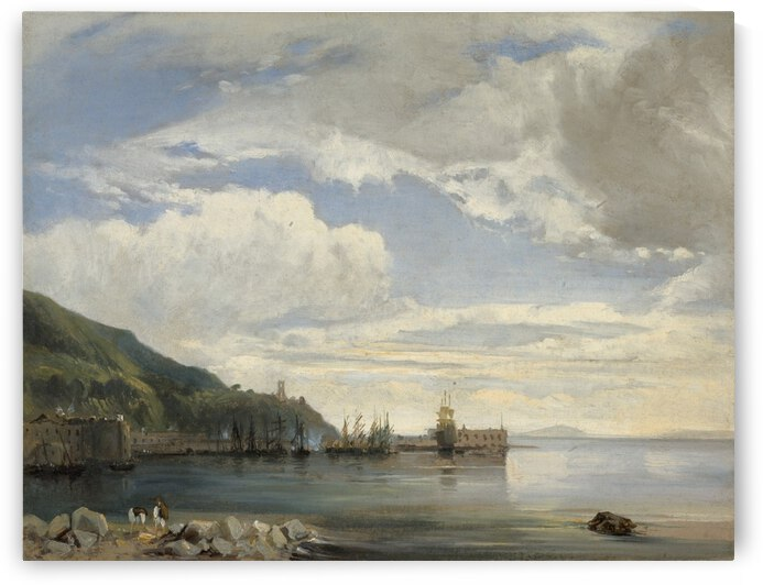 On the Bay of Naples by Francois Antoine Leon Fleury
