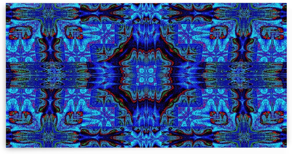 Tribal Blue Wildflower Tapestry by Sherrie Larch