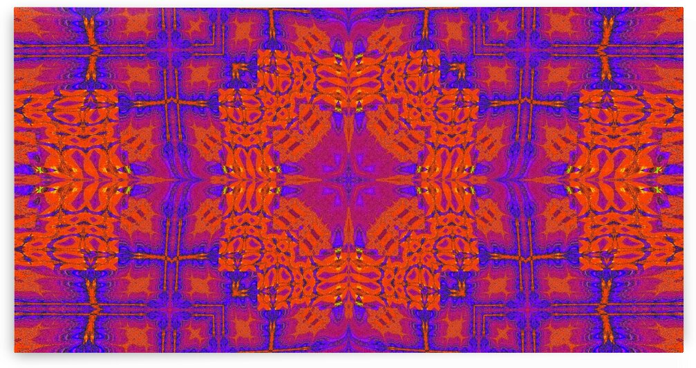 Purple Star Tapestry by Sherrie Larch