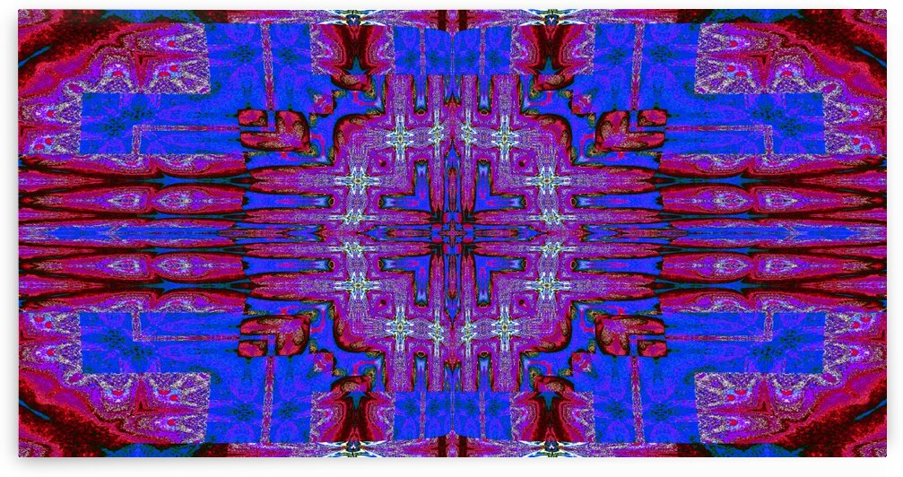 Red Blue Tapestry by Sherrie Larch