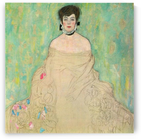 Portrait of Amalie Zuckerkandl by Klimt by Klimt