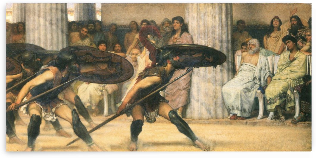 A dance for Phyrrus by Alma-Tadema by Alma-Tadema