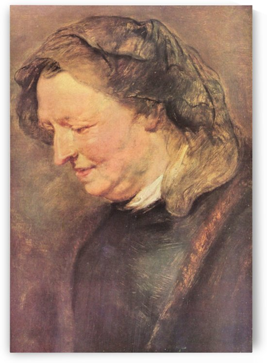 Portrait of an old woman by Rubens by Rubens