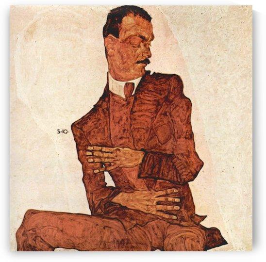 Portrait of Arthur Rossler by Schiele by Schiele