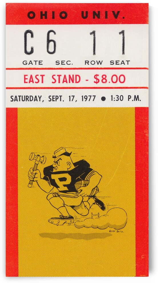 1977 Purdue vs. Ohio by Row One Brand