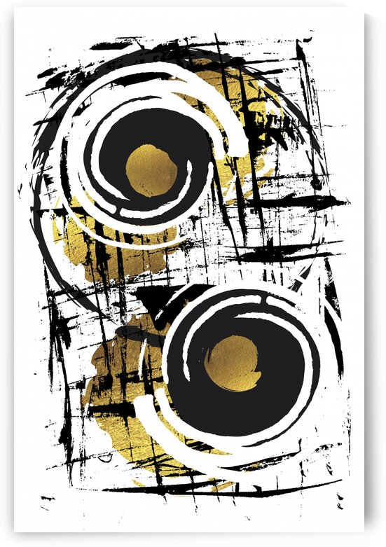 Abstract Painting No. 35 | gold  by Melanie Viola