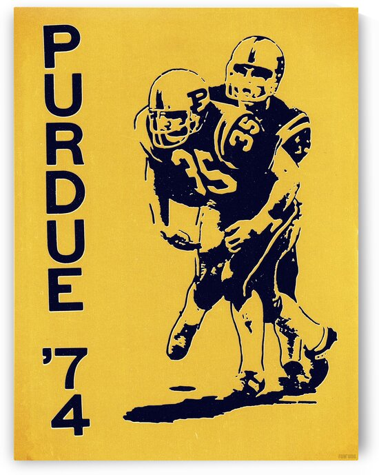 1974 Purdue Football Art by Row One Brand
