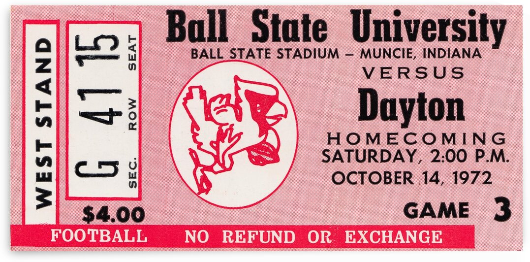 1972 Ball State vs. Dayton by Row One Brand