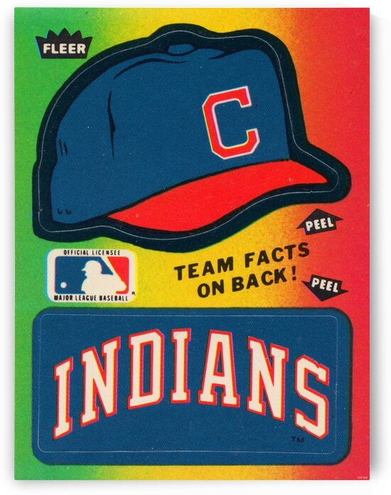 1983 Cleveland Indians Fleer Decal by Row One Brand