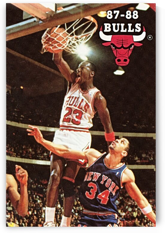 1987 Chicago Bulls Michael Jordan Art by Row One Brand