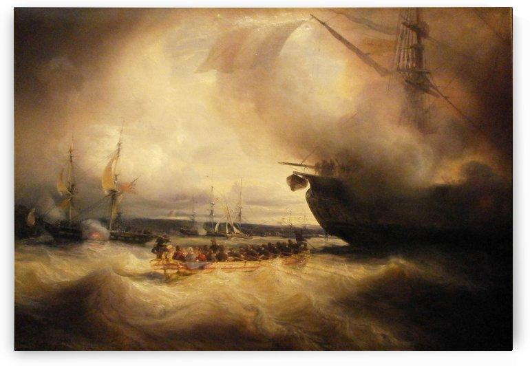 Louis-Philippe et sa famille dans la rade de Cherbourg, le 3 septembre 1833 by Jean Antoine Theodore de Gudin