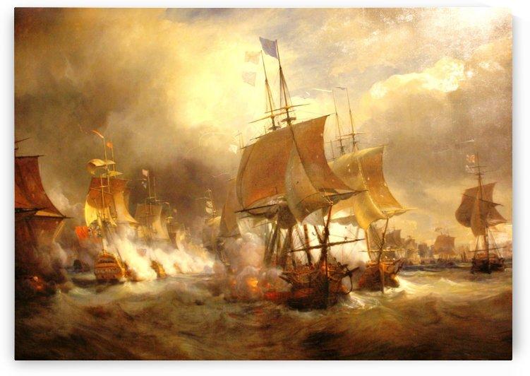 Battle of Ushant by Jean Antoine Theodore de Gudin