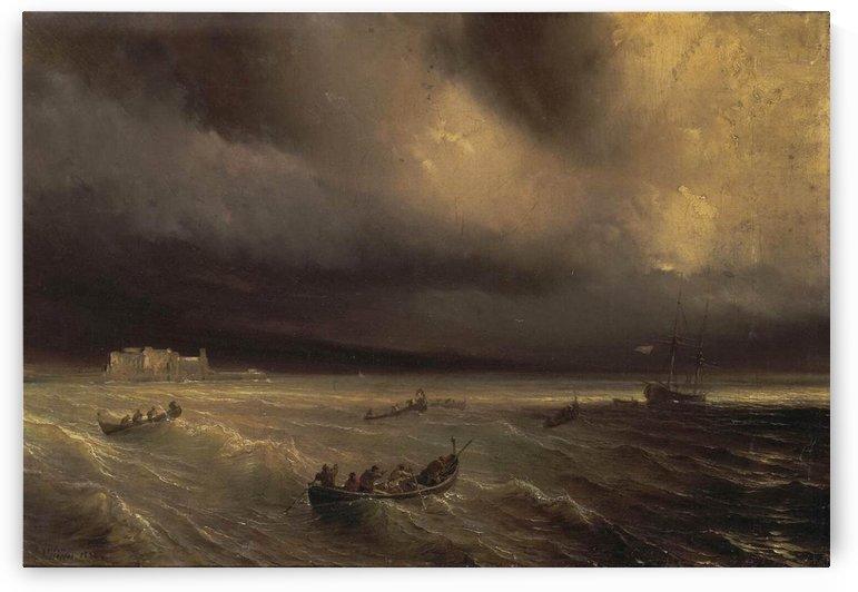 Storm in the Sea by Jean Antoine Theodore de Gudin