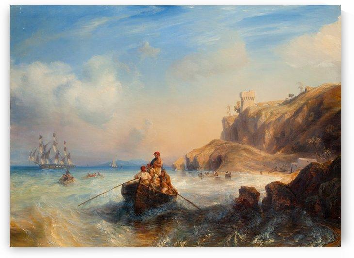 Ships By The Coast by Jean Antoine Theodore de Gudin