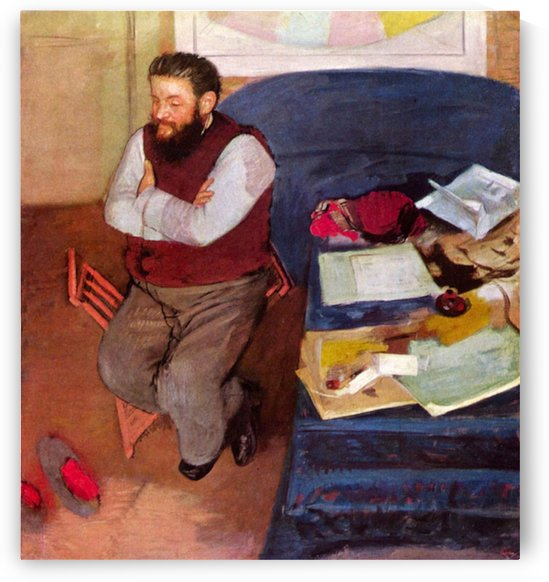 Portrait of Diego Martelli by Degas by Degas