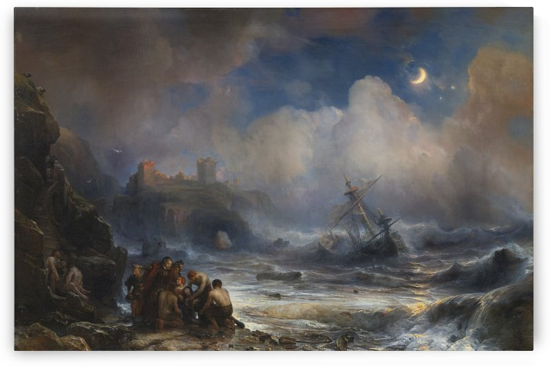 The Sinking of a Vessel of the Spanish Armada on the Coast by Jean Antoine Theodore de Gudin