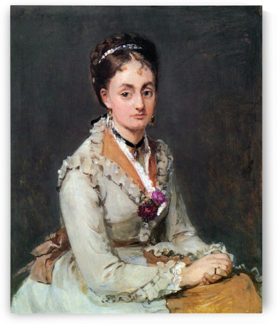 Portrait of Edma by Morisot by Morisot