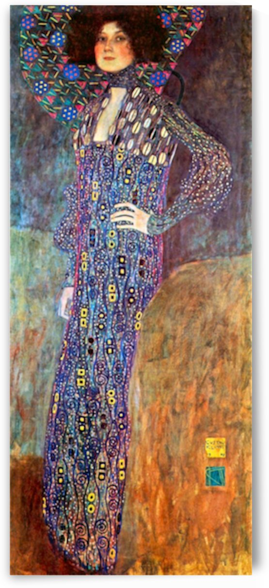 Portrait of Emily Floge by Klimt by Klimt