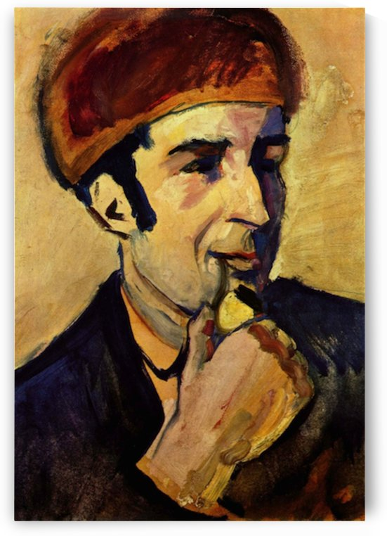 Portrait of Franz Marc by Macke by Macke