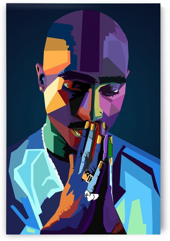 2Pac Tupac Amaru Shakur Color by Long Art