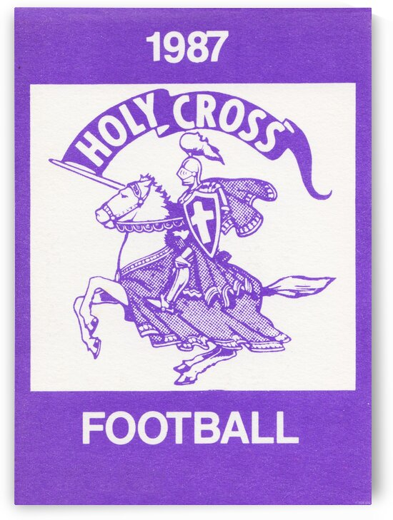1987 Holy Cross Football by Row One Brand