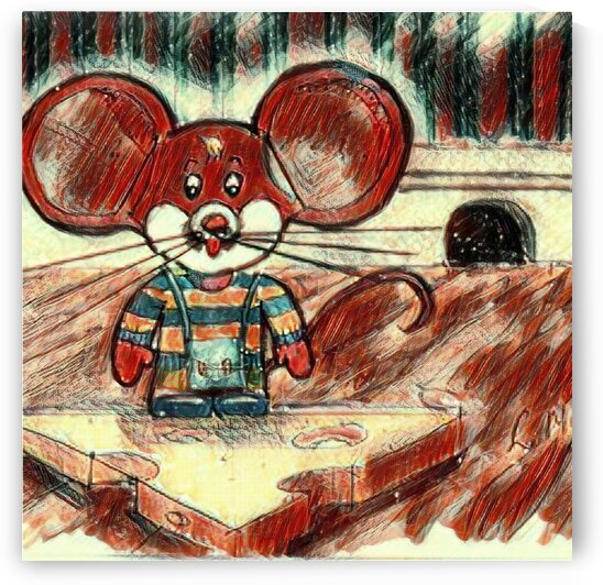 Mr Paw Big Ears Mouse House - Cheese Story by LeGustavienne