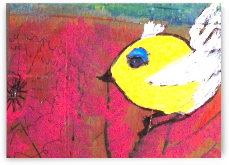 Yellow Bird by dawnrettew