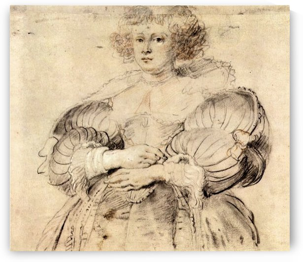 Portrait of Helene Fourment by Rubens by Rubens