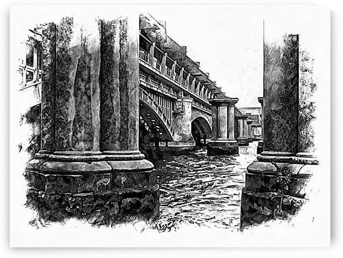 Blackfriars Railway Bridge London Black and White by Dorothy Berry-Lound