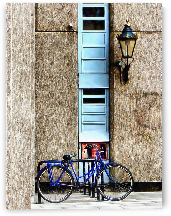 Blue Bicycle At St Katharine Docks London by Dorothy Berry-Lound