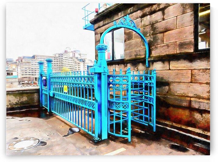 Blue Turnstile on Tower Bridge by Dorothy Berry-Lound
