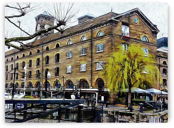 Calm at St Katharine Docks London by Dorothy Berry-Lound