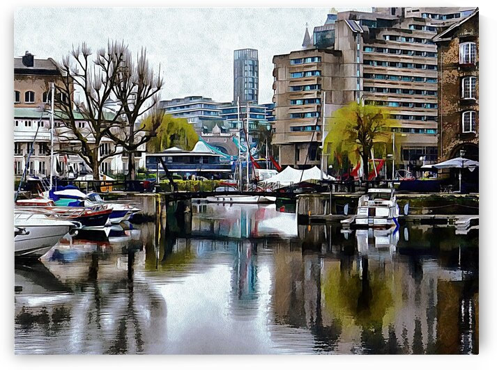 Foggy Reflections at St Katharine Docks London by Dorothy Berry-Lound