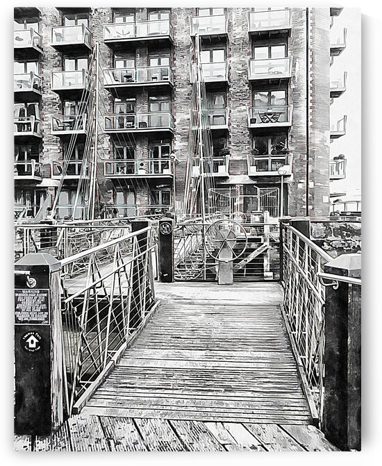Lock at Entrance to St Saviours Dock London by Dorothy Berry-Lound
