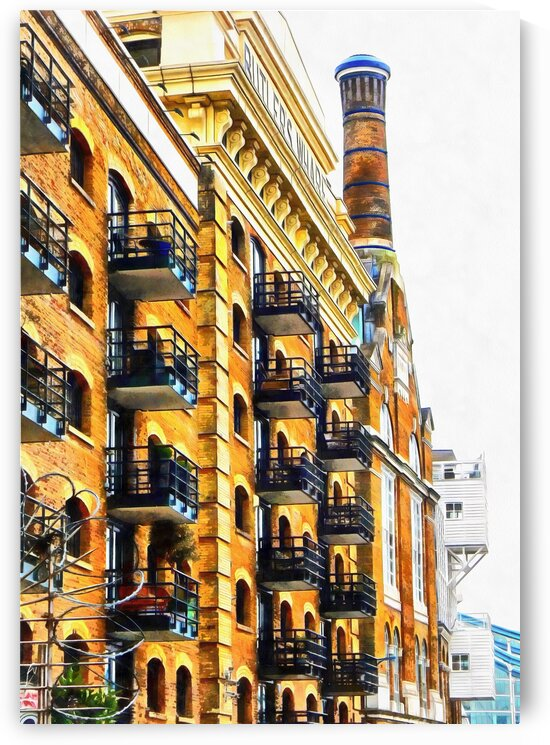 Looking Up At Butlers Wharf by Dorothy Berry-Lound