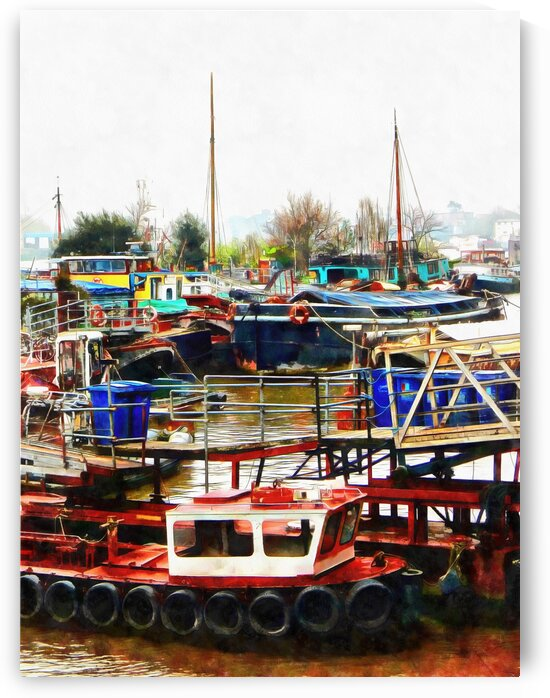 Outside St Saviours Dock London by Dorothy Berry-Lound