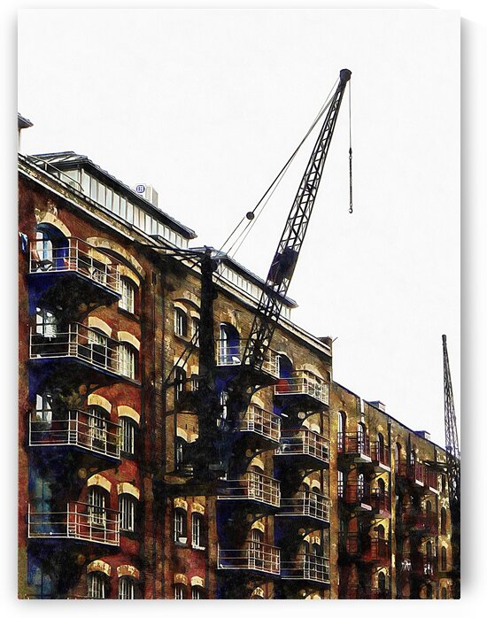 Old Dock Crane at St Saviours Dock  London by Dorothy Berry-Lound