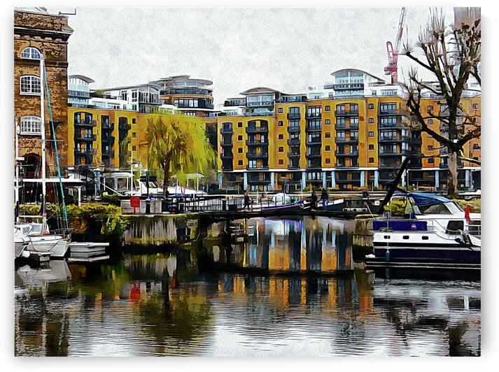 Reflections in St Katharine Docks by Dorothy Berry-Lound