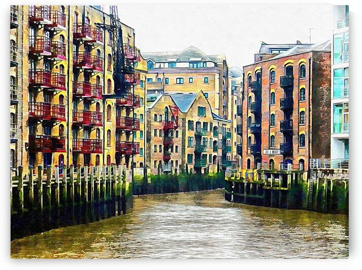 St Saviours Dock London by Dorothy Berry-Lound