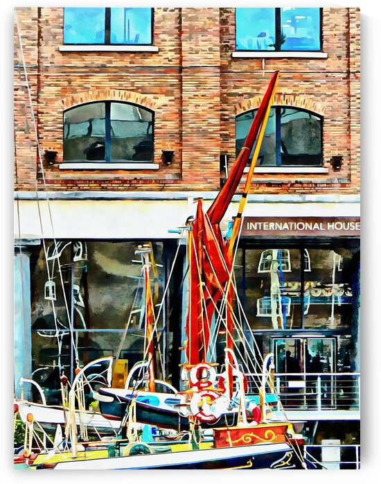 St Katharine Docks Boats 12 by Dorothy Berry-Lound