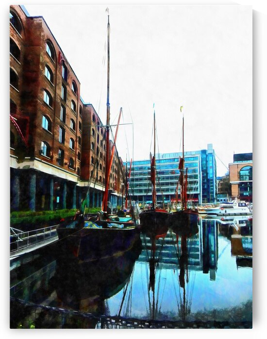 St Katharine Docks Boats 10 by Dorothy Berry-Lound