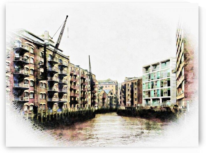 St Saviours Dock Bermondsey by Dorothy Berry-Lound