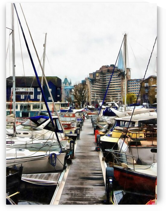 St Katharine Dock Boats 7 by Dorothy Berry-Lound