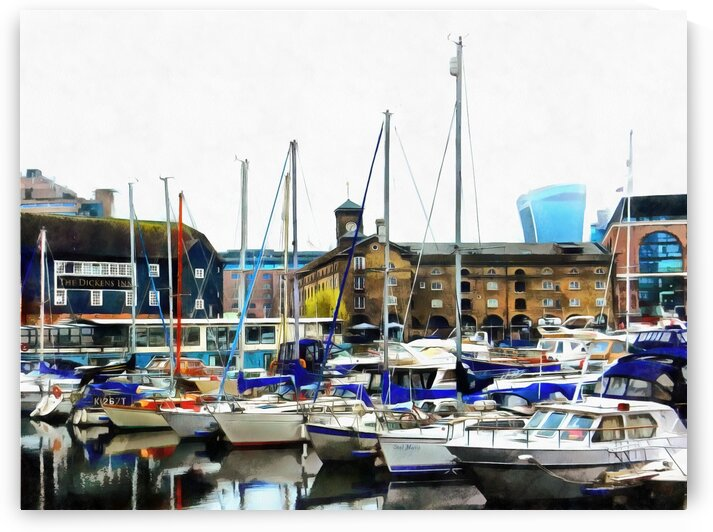 St Katharine Dock Boats 3 by Dorothy Berry-Lound