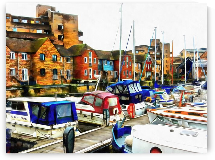 St Katharine Docks Boats 6 by Dorothy Berry-Lound