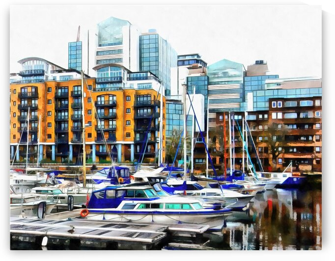 St Katharine Docks Boats 1 by Dorothy Berry-Lound