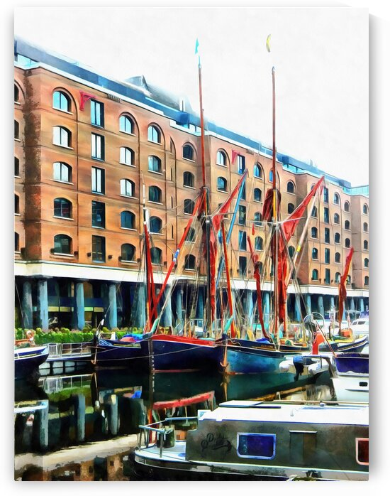 St Katharine Docks Boats 11 by Dorothy Berry-Lound